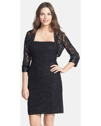 JS Collections Embellished Lace Dress & Jacket - Lyst