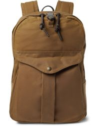 Filson Journeyman Leather-trimmed Canvas Backpack - Brown