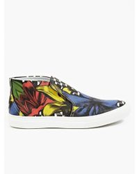 Pierre Hardy Men'S Printed Canvas Skate Sneakers - Lyst