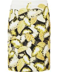 Opening Ceremony Daisy Leaf Print Pencil Skirt - Lyst
