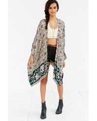 Chaser - Printed Square-sleeve Kimono - Lyst