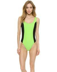 Y-3 Light Flash Swimsuit - Light Flash Green - Lyst