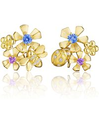 Mimi So - Wonderland Pow Orchid Cluster Clip-on Earrings - Lyst