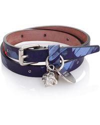 Alexander McQueen | Double Wrap Leather Bracelet | Lyst