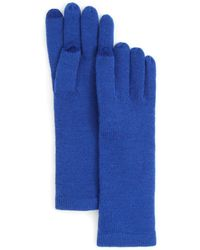 Aqua   Solid Tech Gloves   Lyst