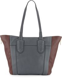 orYANY Kristen Pebbled Leather Tote Bag gray - Lyst