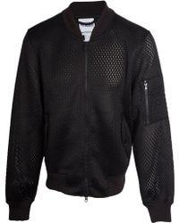 Jeremy Scott for adidas Nyc Mesh Bomber Jacket Black