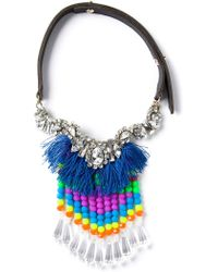 P.A.R.O.S.H. Tassel Necklace - Blue