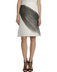 Vera Wang Printed Silk Gazar A-Line Skirt - Lyst