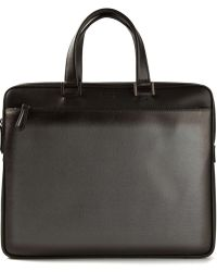 Fendi Black Slim Briefcase - Lyst