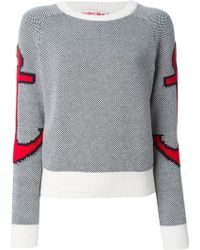 See By Chloé Black Anchor Sweater - Lyst