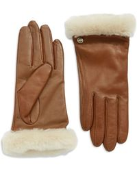 Ugg Leather Gloves - Lyst