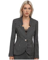Vivienne Westwood Red Label Striped No Collar Blazer - Lyst
