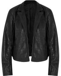 J.Lindeberg - Brandy Mars Black Lace-up Leather Jacket - Lyst