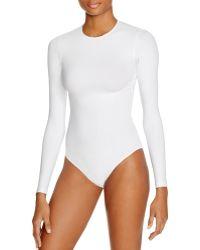 5d85aedbd0 American Apparel - Classic Long Sleeve Bodysuit - Lyst