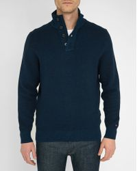 Tommy Hilfiger | Blue Taylor Buttoned Zip-neck Sweater | Lyst