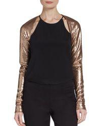 Donna Karan New York Sequin Shrug Top - Lyst