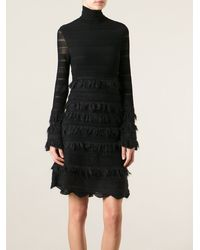 Alexander McQueen Patchwork Lace Dress - Lyst