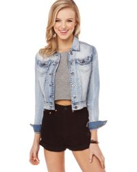 Akira The Riot Light Denim Jean Jacket - Lyst