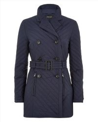 Jaeger Chevron-Quilted Trench - Lyst