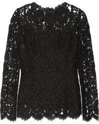 Dolce & Gabbana Lace Top - Lyst