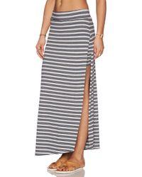 Feel The Piece Rourke Maxi Skirt - Gray