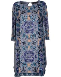 Antik Batik Blue Short Dress - Lyst