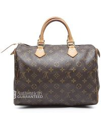 Louis Vuitton Preowned Monogram Canvas Speedy 30 Bag - Lyst