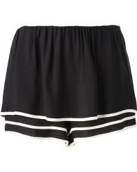 See By Chloé Black Tiered Shorts - Lyst