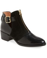 Hispanitas Fred Buckle Leather Boots - Black