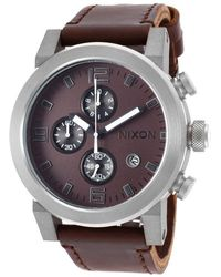 Nixon Men'S Ride Chronograph Brown Horween Leather And Dial brown - Lyst