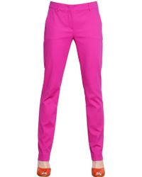 Sportmax Stretch Cotton Satin Pants - Lyst