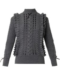 Christopher Kane Ribbon-Through Cashmere Sweater - Lyst