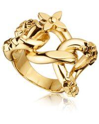 Louis Vuitton Lv Chain Ring - Lyst