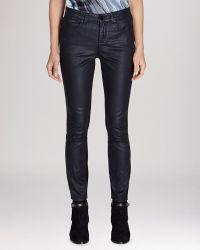Karen Millen Jeans - Indigo Coated Skinny in Dark Blue - Lyst