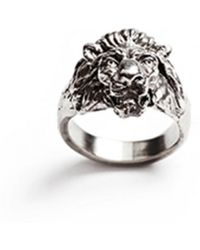 Lulu Frost G. Frost Bravery Lion Ring - White Bronze silver - Lyst