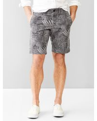 """Gap Lived-In Palm Print Shorts (10"""") - Lyst"""