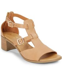 Seychelles Just My Type Leather Sandals beige - Lyst
