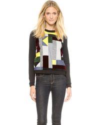 Emma Cook - Patchwork Sweatshirt Black Multi - Lyst