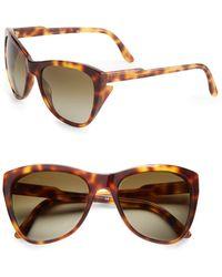 Stella McCartney 56Mm Cat'S-Eye Sunglasses - Lyst
