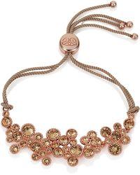 Caroline Creba   Swarovski Crystal Bracelet Rose Gold & Brown   Lyst