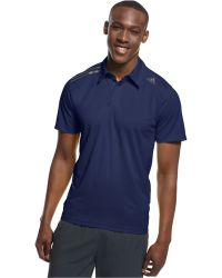 Adidas Blue Climachill Polo - Lyst