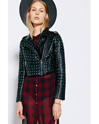 Pins And Needles Allover Studded Moto Jacket - Lyst