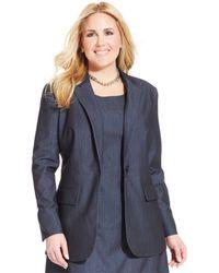 Jones New York Collection Plus Size One-Button Blazer - Lyst