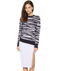 A.L.C. Frankie Sweater Midnight Multi - Lyst