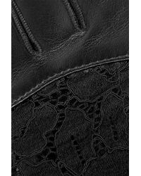 Nina Ricci - Leather And Lace Gloves - Lyst