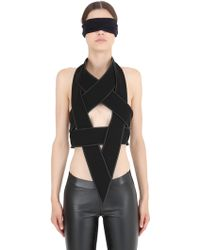 Gareth Pugh Star Shaped Leather & Cady Body Harness black - Lyst