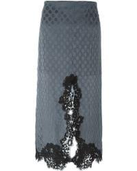 Chloé   Lace Trim Polka Dot Skirt   Lyst
