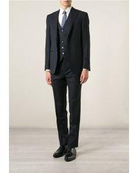 Corneliani Three Piece Suit blue - Lyst