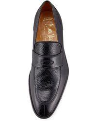 Gravati Black Peccary Loafer - Lyst